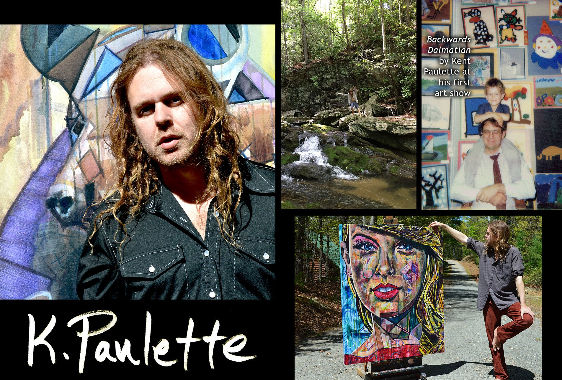 Photos of artist Kent Paulette