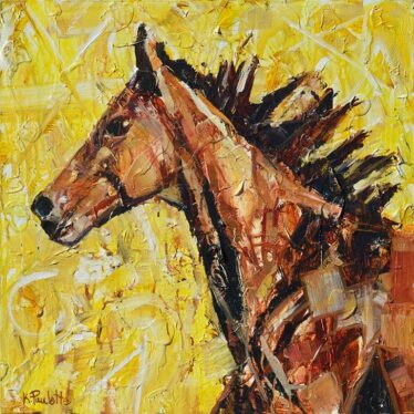 horse painting by Kent Paulette