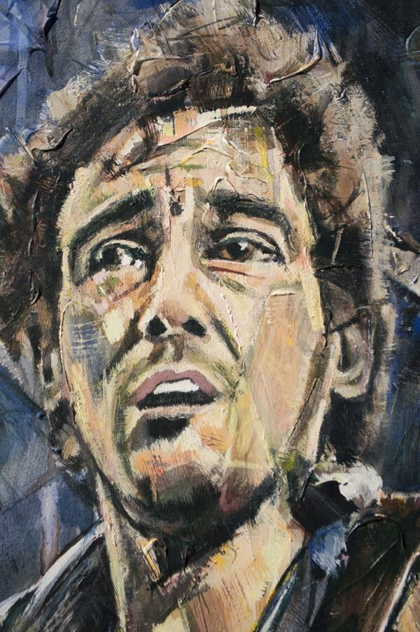 Bruce Springsteen painting close-up
