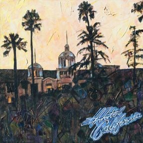 Painting of Hotel California album cover