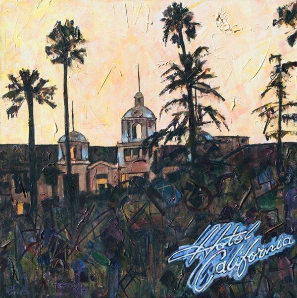 Painting of Hotel California album cover