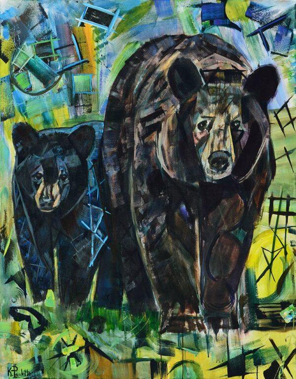 Mama Bear and Cub painting