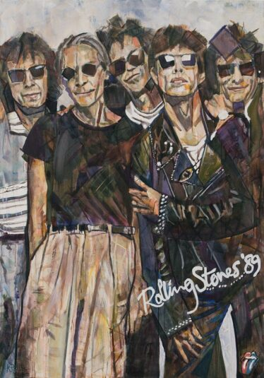 Painting of The Rolling Stones