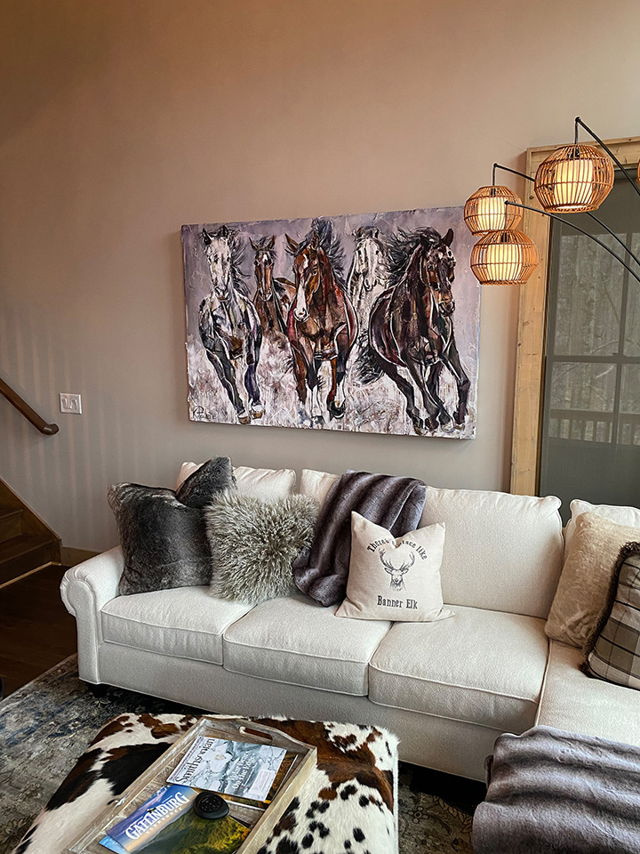 painting of horses in home 1